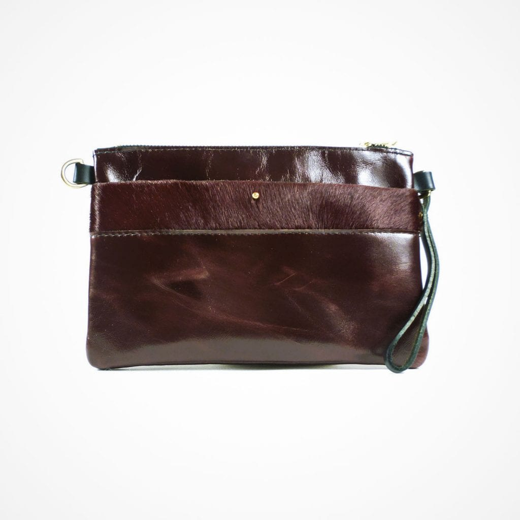 Ava Clutch Oxblood Front View