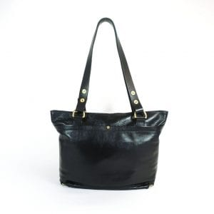 Alex (mini) Handbag - Black Top Grain Leather, Back View
