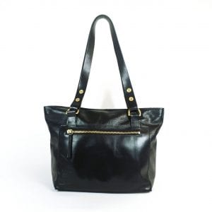 Alex (mini) Handbag - Black Top Grain Leather, Front View