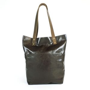 Alex Shopper Bag - Brown Leather, Front View