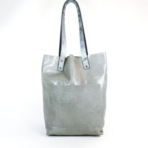 Alex Shopper Bag - Grey Leather, Front View