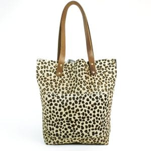 Alex Shopper Bag - Cheetah Ponyskin Tote, Front View