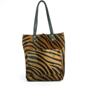 Alex Shopper Bag - Tiger Ponyskin Tote, Front View