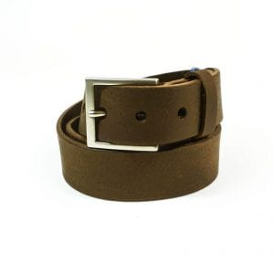 Belt - Brown Veg Tanned Leather, 3.5 cm wide, Rolled